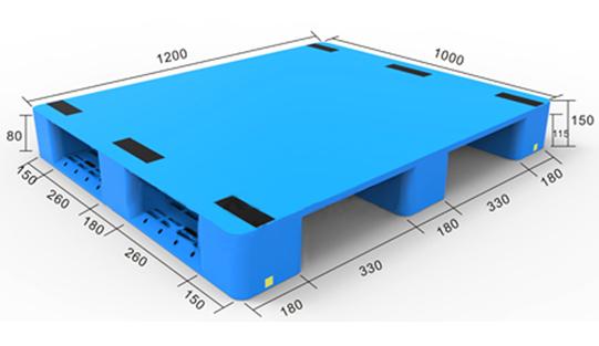 1012川字平板塑料托盘(反川)生产厂家